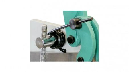 Cisaille à levier de 125x3 mm pour rond et tole - detail ressort securite