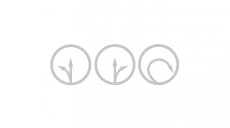 Cisaille bichantourneuse, coupe à droite  280 mm - Schema sens cisaille