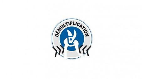 Cisaille bichantourneuse démultipliée pour inox, coupe à droite, 230 mm - Logo Demultiplication