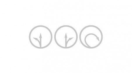 Cisaille bichantourneuse démultipliée pour inox, coupe à droite, 230 mm - Schemas sens cisaille