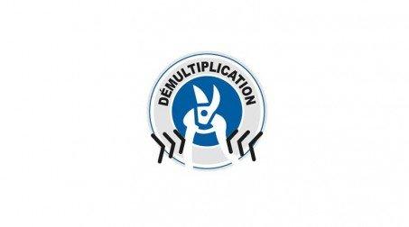 Cisaille bichantourneuse démultipliée pour inox, coupe à droite, 250 mm - Logo Demultiplication