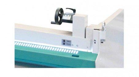 Cisaille électrique lg2050 x2mm avce Butée arrière manuelle commande avant - ZoomCommAvant