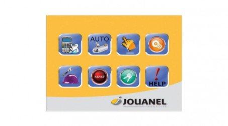 Commande numérique à écran tactile (incluant la butée arr électrique et cycle au - Vue CN1