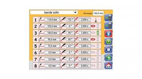 Commande numérique à écran tactile (incluant la butée arr électrique et cycle au - Vue CN3