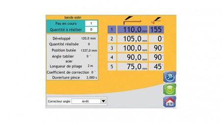 Commande numérique à écran tactile (incluant la butée arr électrique et cycle au - Vue CN4