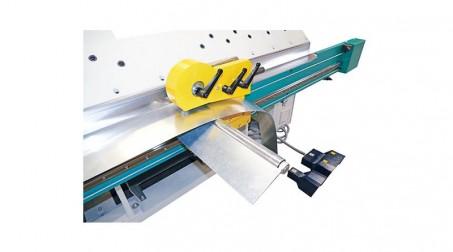 Couteau à molettes hydraulique acier 1,5 mm - Detail Coupe