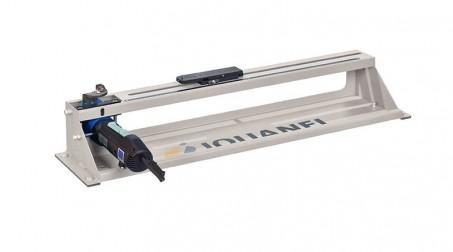 Découpe collerette élec - rayon 45 à 500 mm - acier 1,5 mm, livrée sans pied.
