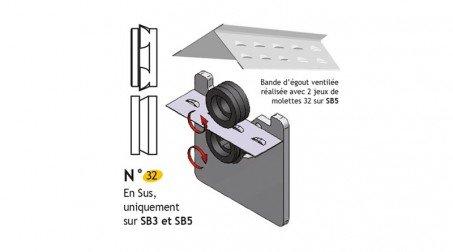 Jeu de molettes de crevé longitudinal pour SB2 et SB5