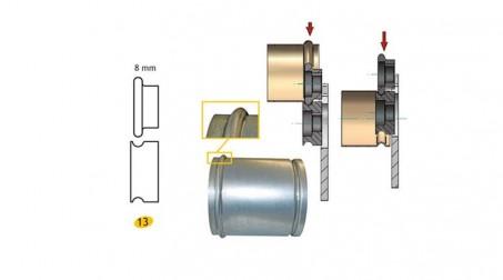 Jeu de molettes n° 13 moulure de 8 mm pour bordeuse SB5 et SB2