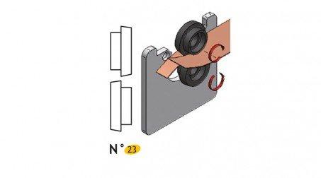 Jeu de molettes n° 23 pour bordeuse SB5et SB2 (molettes à cisailler)