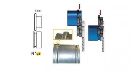 Jeu de molettes  n° 24 molette carre 5 mm pour bordeuse SB5 et SB2