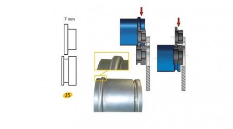 Jeu de molettes n° 25 molette carre 7 mm pour bordeuse SB5 et SB2