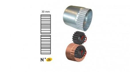 Jeu de molettes n° 26 molette de retreind 30 mm pour bordeuse SB5 et SB2