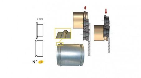 Jeu de molettes n° 3 moulure de 3 mm pour bordeuse SB5 et SB2