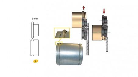 Jeu de molettes n° 4 moulure de 5 mm pour bordeuse SB5 et SB2