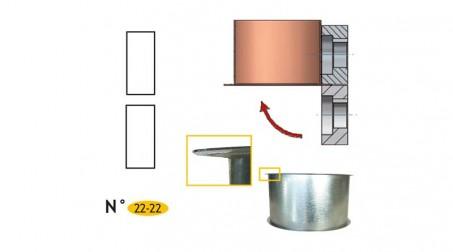 Jeu de molettes plates bords ronds n°22-22 pour bordeuse SB7R et CMZ