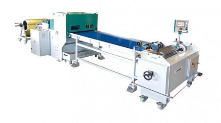 Ligne calo - larg1000 -2nervures décambrage-poinconnage coupe/capacite 1mm acier - Ligne complete