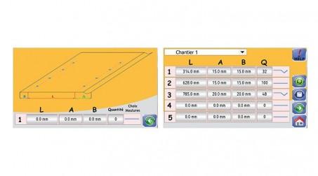 Ligne Calo - larg 1000 - 1 nervure - acier 1mm - (molettes V6 en standard) - 2Vues CN