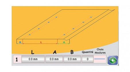 Ligne Calo - larg 1000 - 1 nervure - acier 1mm - (molettes V6 en standard) - Vue CN1