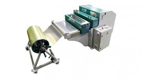 Ligne calo - larg1000 -2nervures décambrage-poinconnage coupe/capacite 1mm acier - Avec DVS