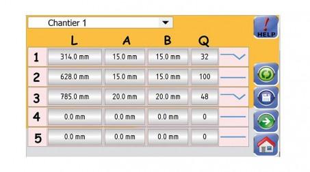 Ligne calo - larg1000 -2nervures décambrage-poinconnage coupe/capacite 1mm acier - Vue CN2