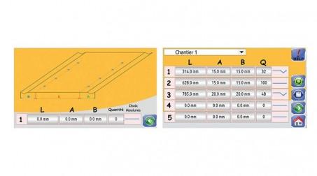 Ligne calo - larg1000 -2nervures décambrage-poinconnage coupe/capacite 1mm acier - 2Vues CN