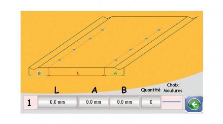 Ligne calo - larg1000 -2nervures décambrage-poinconnage coupe/capacite 1mm acier - Vue CN1