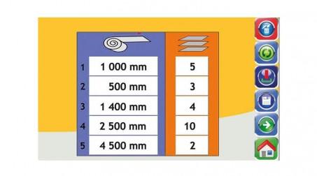 Ligne de coupe 1,25mx0.8mm,contrôle numérique longueurs/quantités,coupe élec. - Vue Programmation