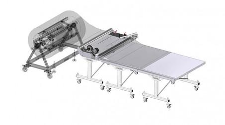 Ligne de coupe 1,25mx0.8mm, déroulage manuel par traction,coupe manuelle. - Avec options