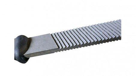 Lime mixte 250 mm écouane et batarde, pour nettoyage des pannes de fer à souder, - Cote batard