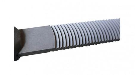Lime mixte 250 mm écouane et batarde, pour nettoyage des pannes de fer à souder, - Cote ecouane