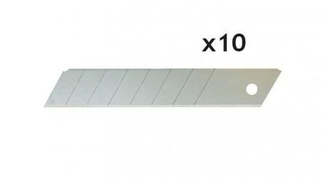 Lot de 10 lames droites à casser 18 mm