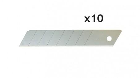 Lot de 10 lames droites à casser 25 mm