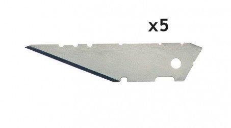 Lot de 5 lames trapézoïdales 25 mm
