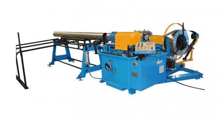 Machine pour gaines spiralées Ø 1250 mm avec contrôle numérique et coupe auto.