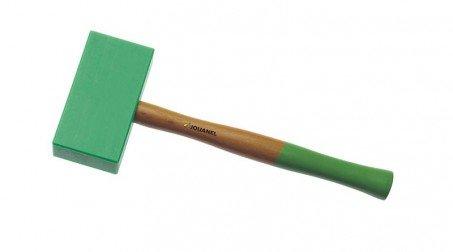 Maillet nylon embout carré de 145x75x35 mm, manche bois