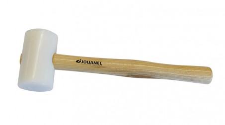 Maillet nylon embout rond Ø 60 mm sur 100 mm, manche bois