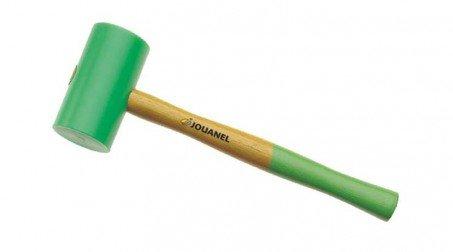 Maillet nylon embout rond Ø 60 mm sur 110 mm, manche bois