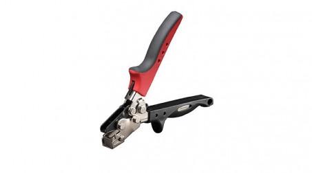 Pince à crever type Snaplock, cap acier 1mm, col de cygne 35 mm (lame réglable)