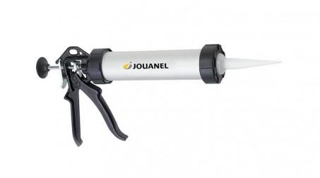 Pistolet à silicone corps en alu anodisé argent pour cartouches et poches 400 ml
