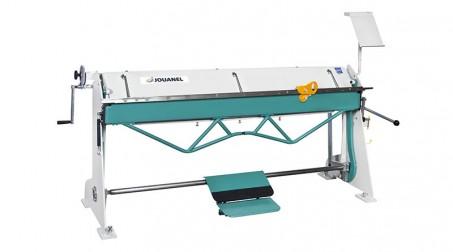 Plieuse d'atelier manuelle 2,04 ml - zinc 1,2 mm et acier 1 mm avec tablier ergonomique et pédale
