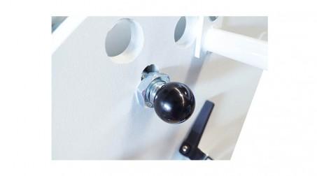 Plieuse d'atelier manuelle 2,04 ml - zinc 1,2 mm et acier 1 mm avec tablier ergonomique et pédale - Regl rapide ouverture pince