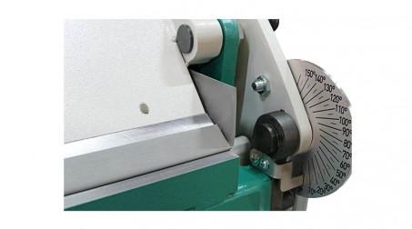 Plieuse d'atelier manuelle 2,04 ml - zinc 1,2 mm et acier 1 mm avec tablier ergonomique et pédale - Degagement lateral