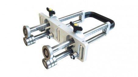 Plieuse à main double colonne, 3 rouleaux de guidage - 200 mm