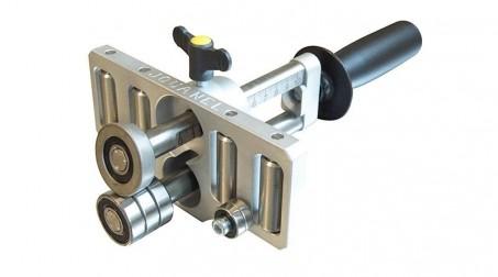 Plieuse à main simple colonne, 4 rouleaux de guidage - 100 mm