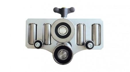 Plieuse à main simple colonne, 4 rouleaux de guidage - 350 mm - face