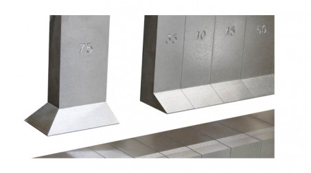 Plieuse manuelle à segments - Detail1 - Segments gravés - Zoom
