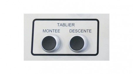 Plieuse universelle 2,05 ml - acier 1,5 mm - cycle automatique de pliage inclus - PTL_Detail_Bouton_Poussoir_Tablier