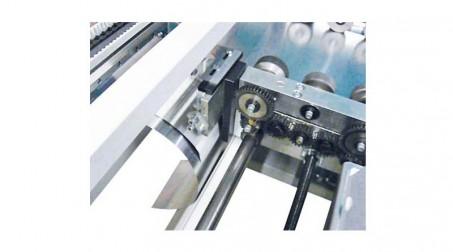 Profileuse joint debout,prog longueur,coupe transversale manuelle, refendage - Detail Elimination chute