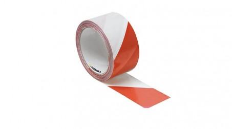 Ruban de signalisation rouge et blanc, 50 mm x 100 m